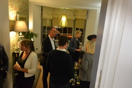 Guests gather before the dinner for canapes and conversation!