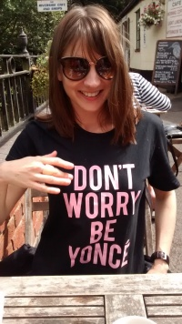 Polly, co-founder and wearer of tasteful t-shirts