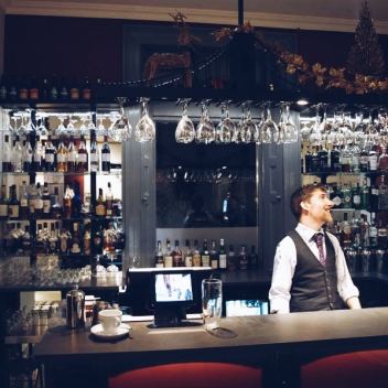 Craig D'Allen at the Orestone Manor's new bar
