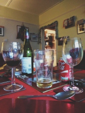 A forest of wine glasses