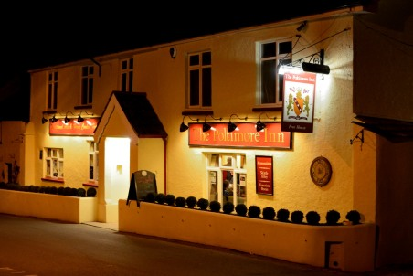 Poltimore Inn North Molton at night
