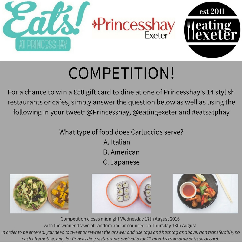 Twitter Competition time! Win £50 Princesshay Eats gift card!