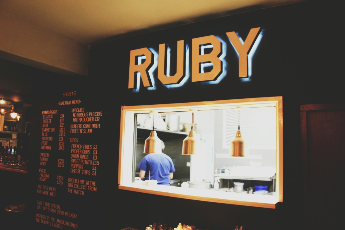 Ruby Kitchen at The Grapevine Brewhouse, Exmouth