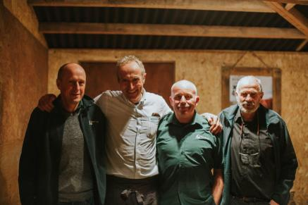 Simon Chew - Dean Forge, Peter Greig from Pipers Farm, Michael Chew & Pat Ranger -Dean Forge