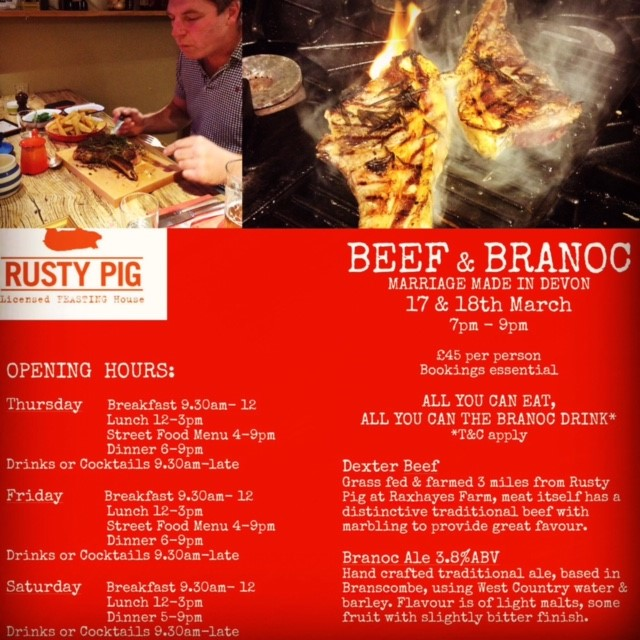 Beef and Branoc at The Rusty Pig – Tonight and tomorrow!