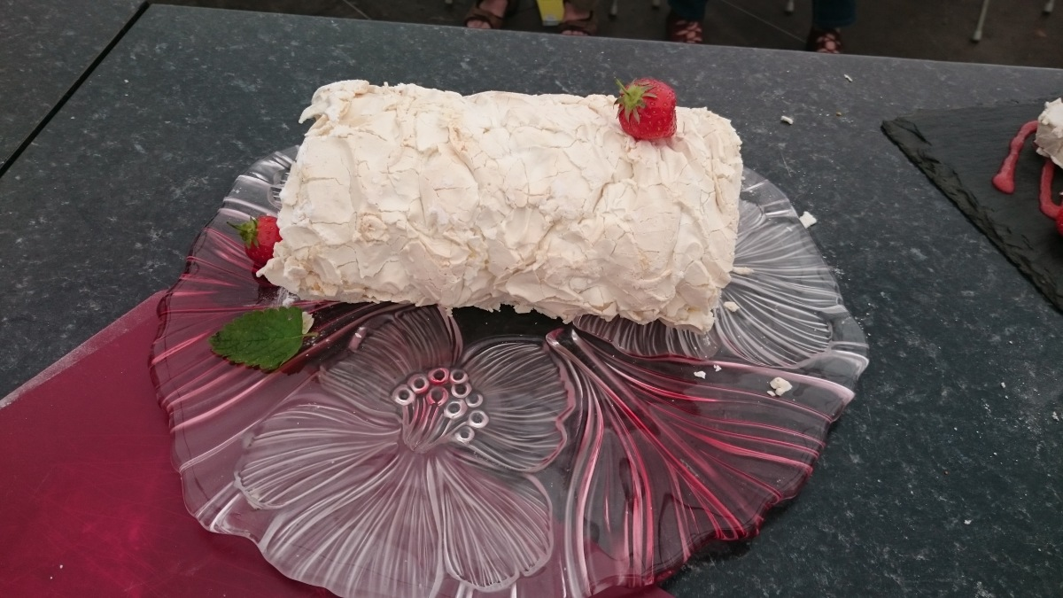 Strawberry Roulade courtesy of Sue Stoneman, South West Home Cook of the Year 2016