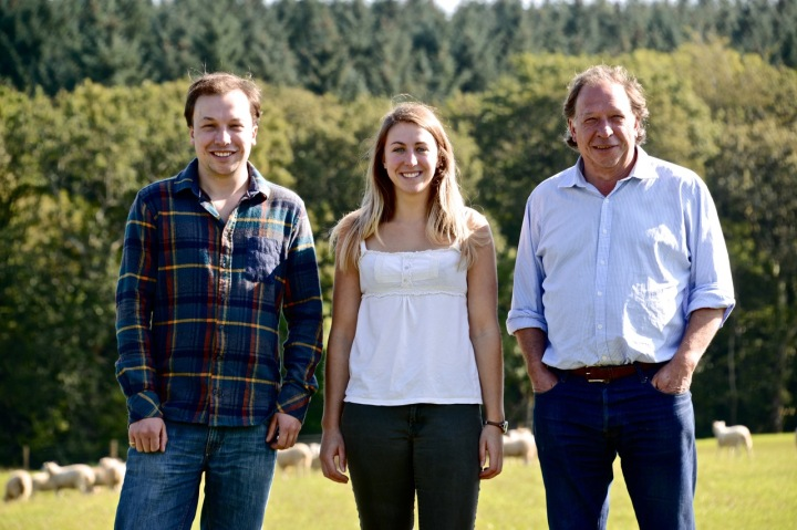 Eversfield Organic family Hamish, Anna and Mark Bury