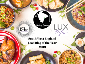 We won South West England Food Blog of the Year thanks to LUX Life Magazine