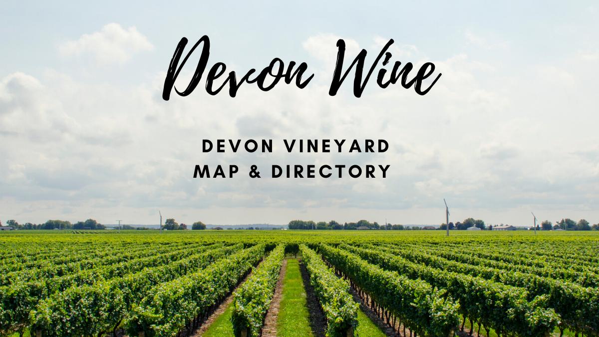 Devon Wine Vineyard Map Directory Map - blog banner