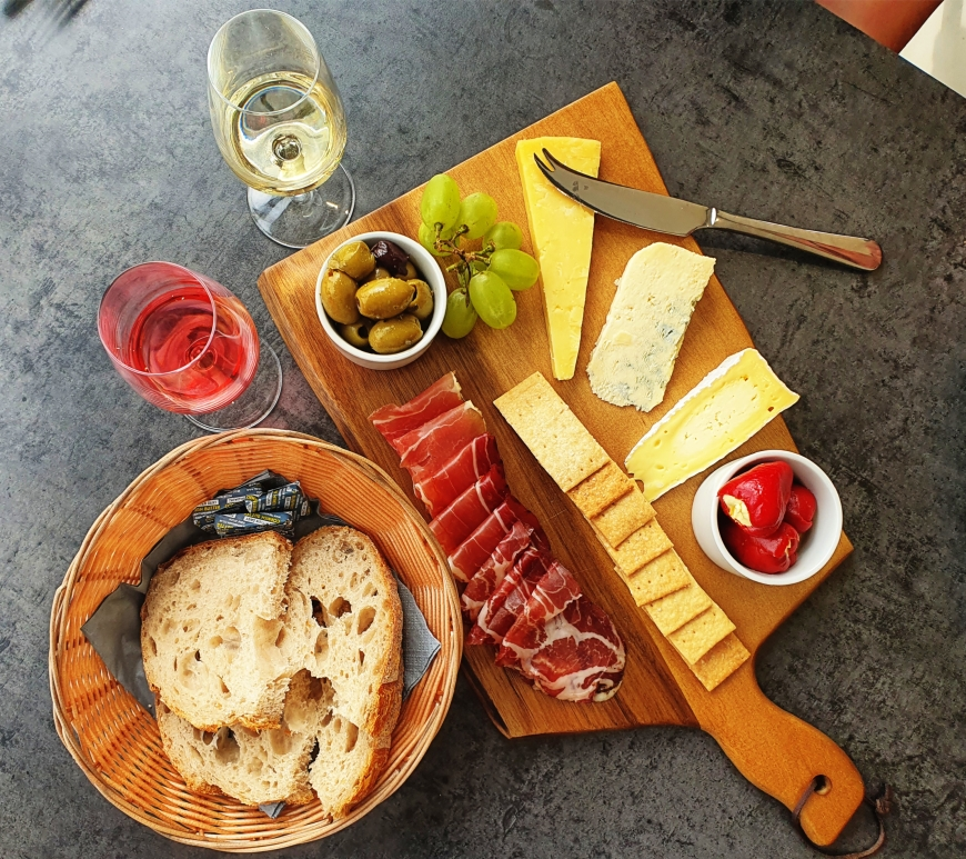 Alder Vineyard Cheese Charcuterie platter